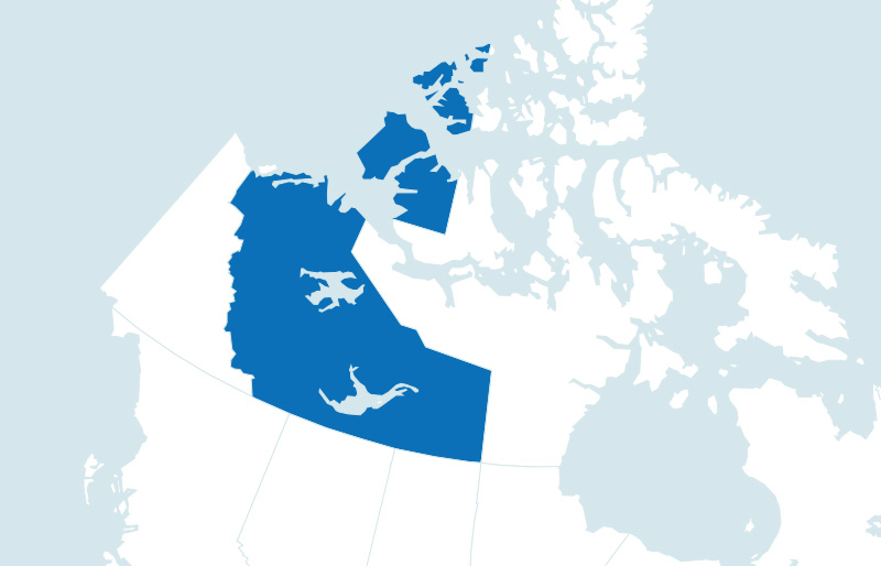 Map of North West Territories